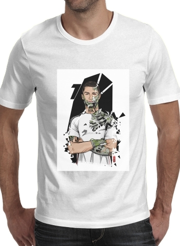 Football Legends: Cristiano Ronaldo - Real Madrid Robot para Camisetas hombre
