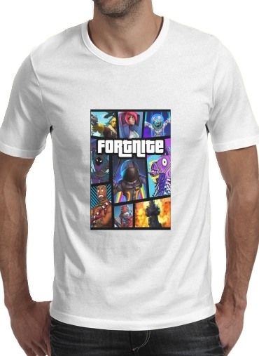 Fortnite - Battle Royale Art Feat GTA para Camisetas hombre