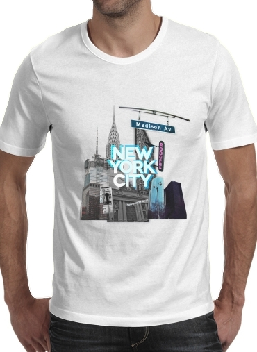 New York City II [blue] para Camisetas hombre
