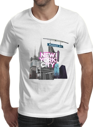 New York City II [pink] para Camisetas hombre