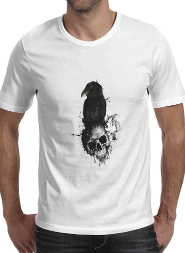 Raven and Skull para Camisetas hombre