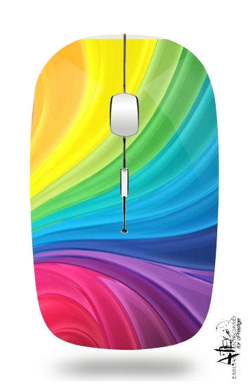 Rainbow Abstract para Ratón óptico inalámbrico con receptor USB
