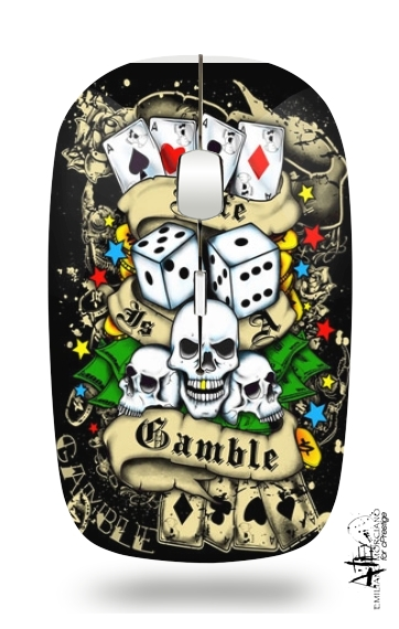 Love Gamble And Poker para Ratón óptico inalámbrico con receptor USB