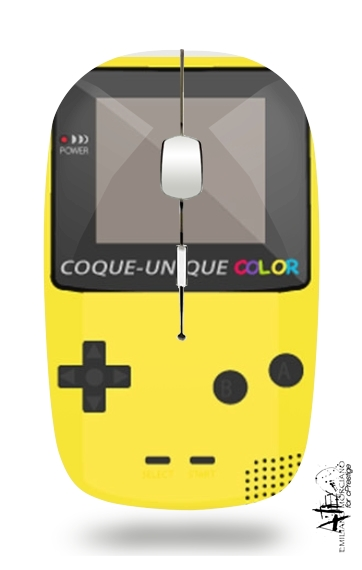 Gameboy Color Yellow para Ratón óptico inalámbrico con receptor USB
