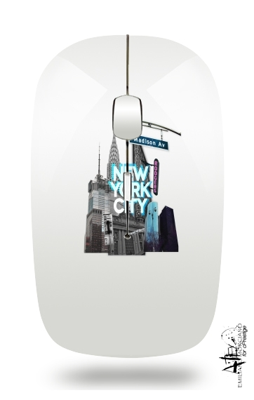 New York City II [blue] para Ratón óptico inalámbrico con receptor USB