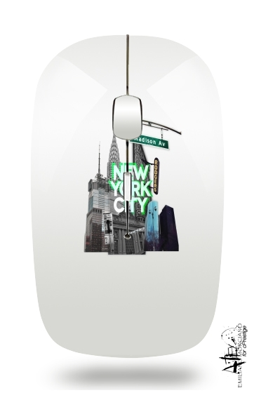 New York City II [green] para Ratón óptico inalámbrico con receptor USB