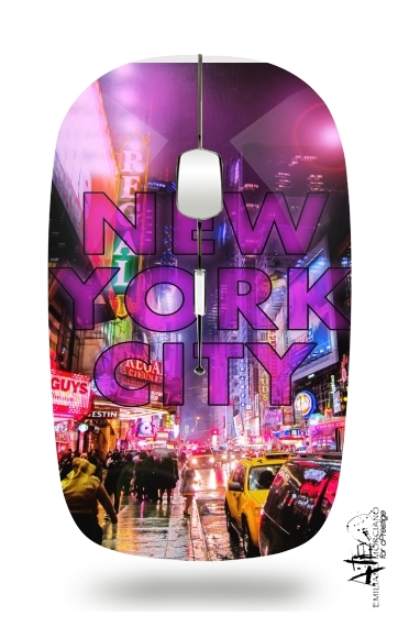 New York City - Broadway Color para Ratón óptico inalámbrico con receptor USB