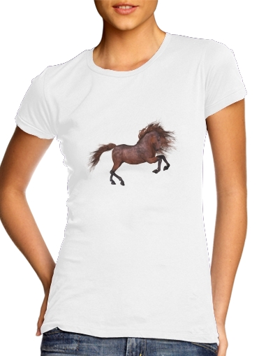 A Horse In The Sunset para Camiseta Mujer