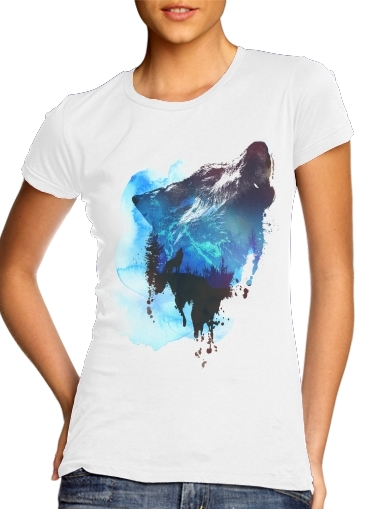 Alone as a wolf para Camiseta Mujer
