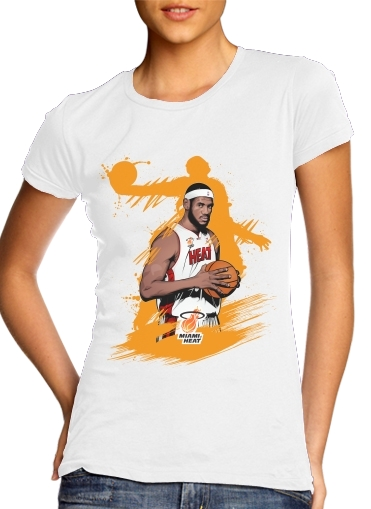 Basketball Stars: Lebron James para Camiseta Mujer