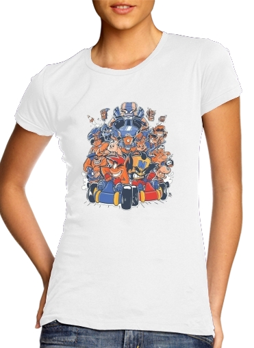 Crash Team Racing Fan Art para Camiseta Mujer
