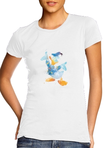 Donald Duck Watercolor Art para Camiseta Mujer