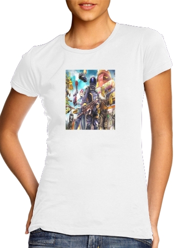Fortnite Characters with Guns para Camiseta Mujer