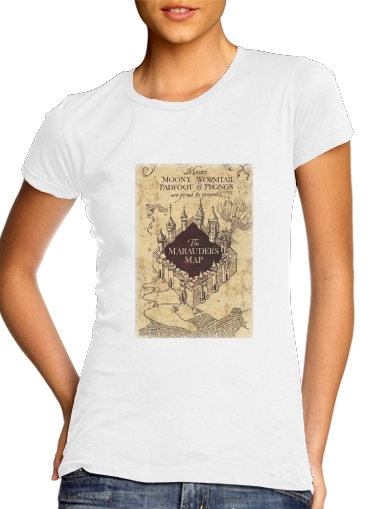 Harry Potter Marauder Map para Camiseta Mujer