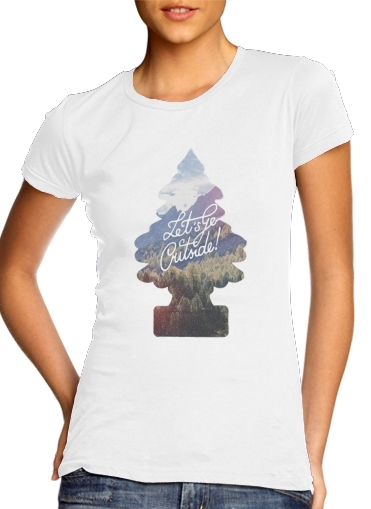 Let's go outside para Camiseta Mujer
