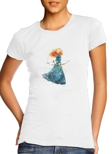 Merida Watercolor para Camiseta Mujer