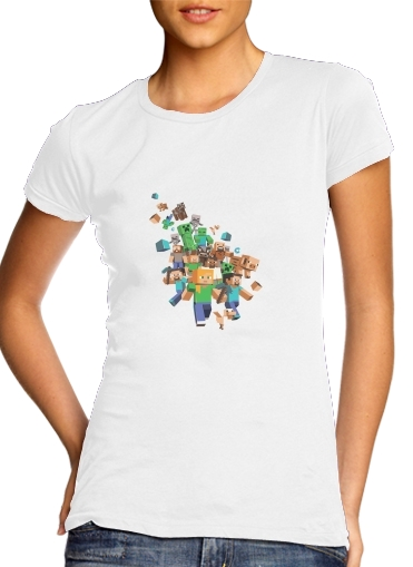 Minecraft Creeper Forest para Camiseta Mujer