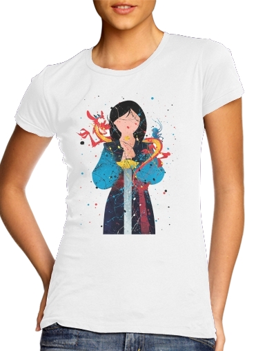 Mulan Princess Watercolor Decor para Camiseta Mujer