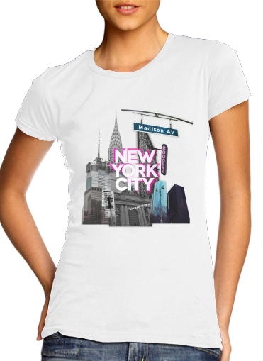 New York City II [pink] para Camiseta Mujer