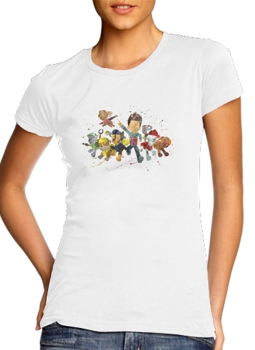 Paw Patrol Watercolor Art para Camiseta Mujer