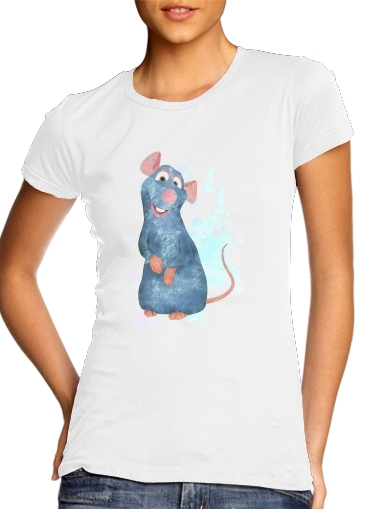 Ratatouille Watercolor para Camiseta Mujer