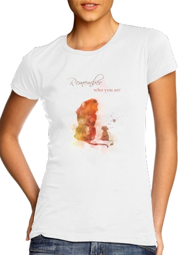 Remember Who You Are Lion King para Camiseta Mujer