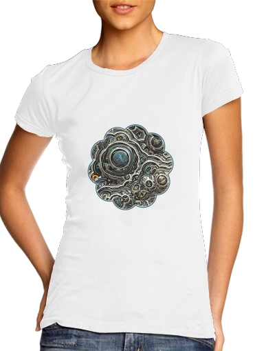 Silver glitter bubble cells para Camiseta Mujer