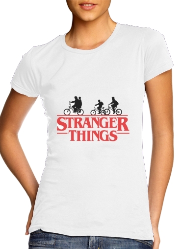 Stranger Things by bike para Camiseta Mujer