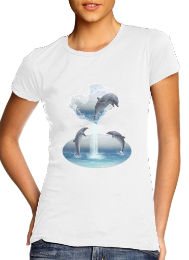 The Heart Of The Dolphins para Camiseta Mujer
