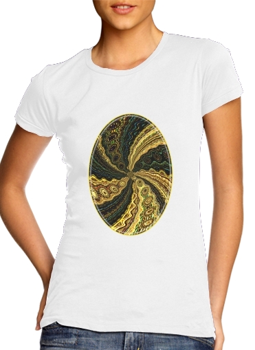 Twirl and Twist black and gold para Camiseta Mujer