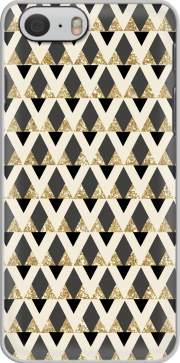 GLITTER TRIANGLES IN GOLD, BLACK AND NUDE Carcasa para Iphone 6 4.7
