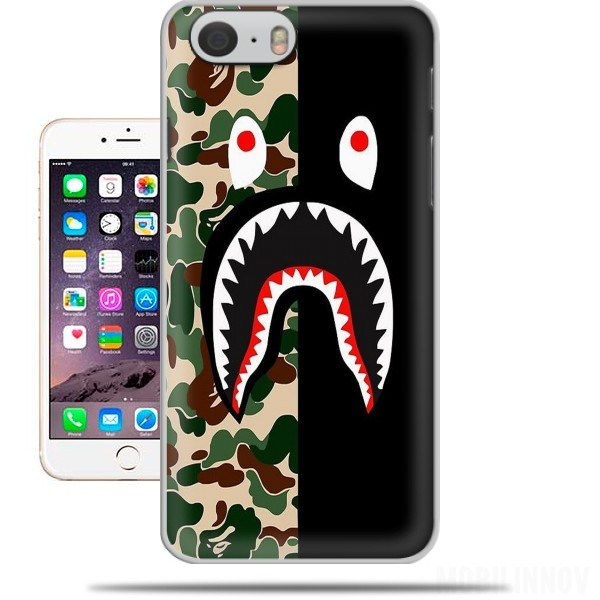 Carcasa Shark Bape Camo Military Bicolor para Iphone 6 4.7