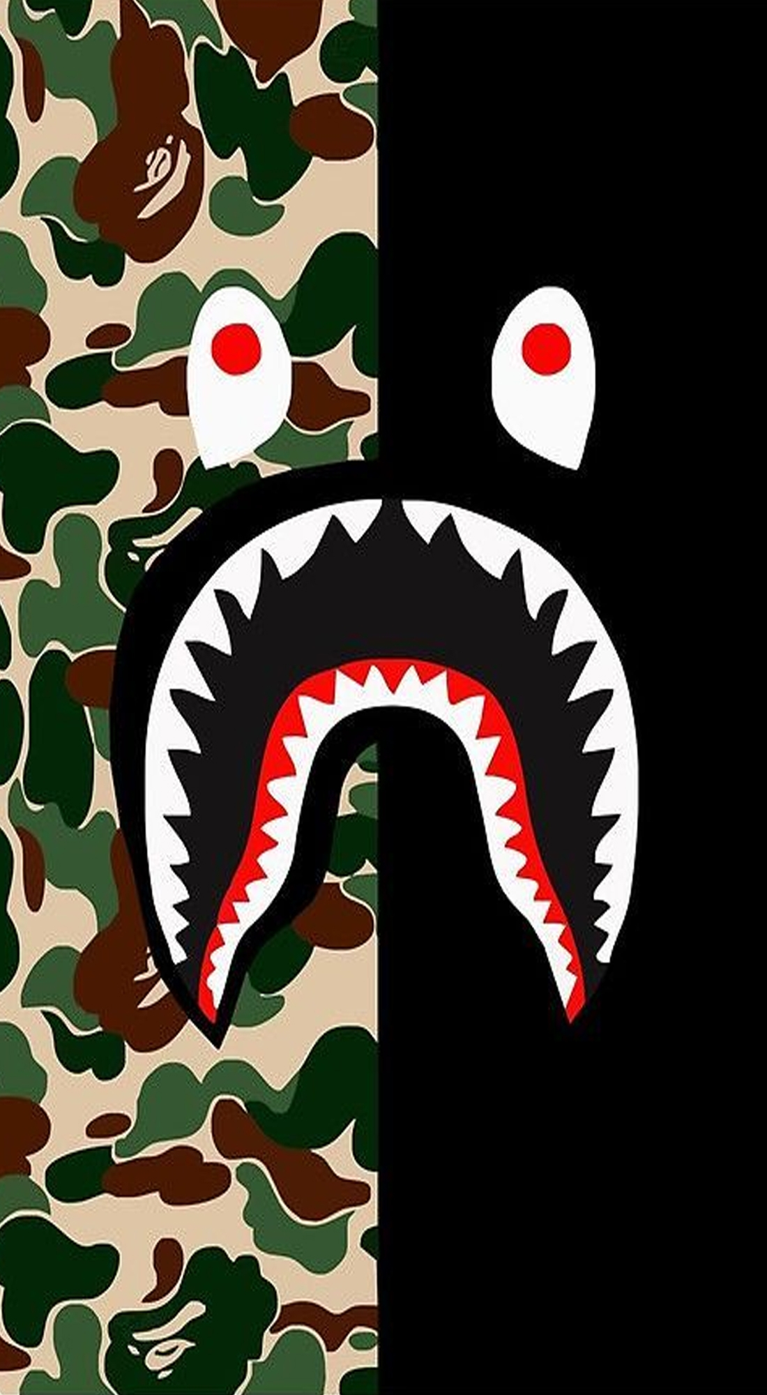 Funda Shark Bape Camo Military Bicolor para