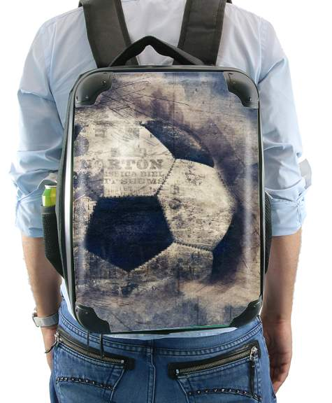Abstract Blue Grunge Soccer para Mochila