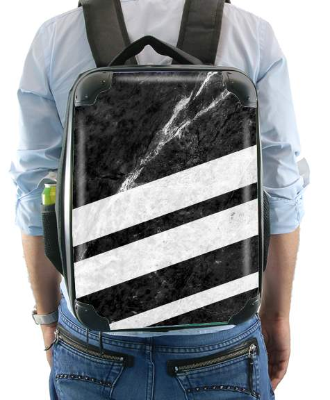 Black Striped Marble para Mochila