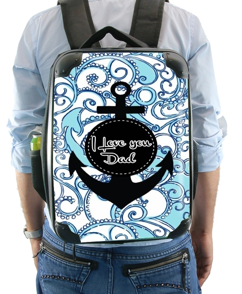 Blue Water - I love you Dad para Mochila