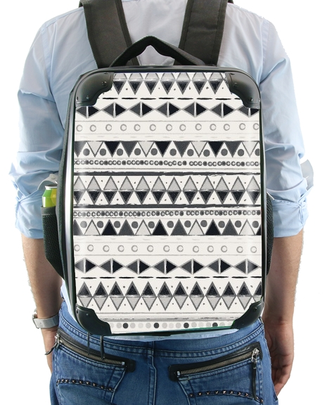 Ethnic Candy Tribal in Black and White para Mochila