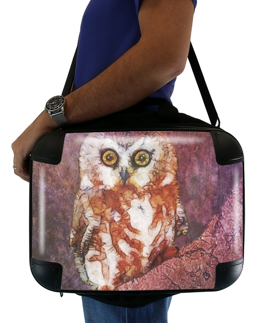 abstract cute owl para bolso de la computadora