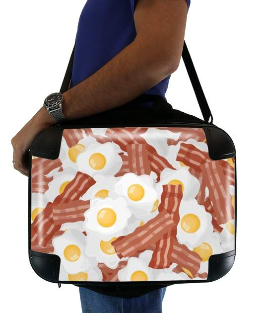 Breakfast Eggs and Bacon para bolso de la computadora