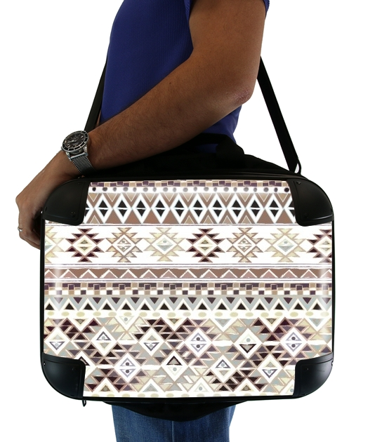 BROWN TRIBAL NATIVE para bolso de la computadora