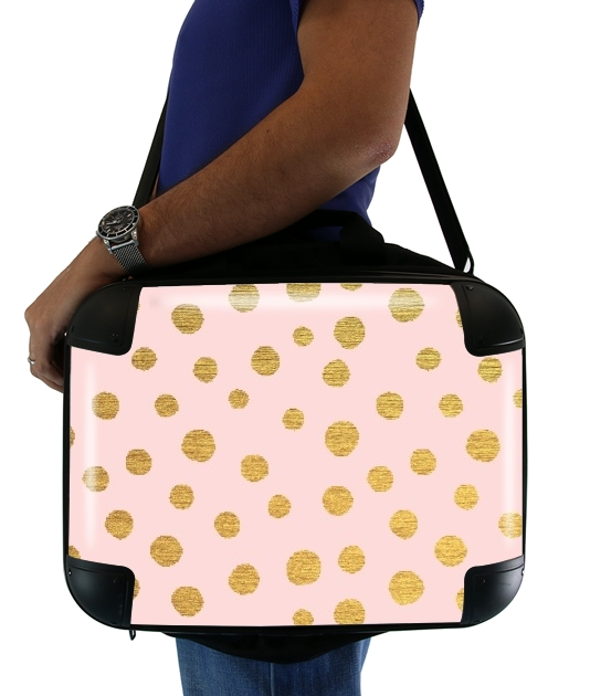 Golden Dots And Pink para bolso de la computadora