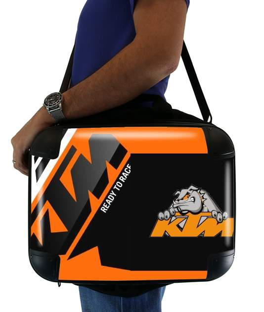 KTM Racing Orange And Black para bolso de la computadora