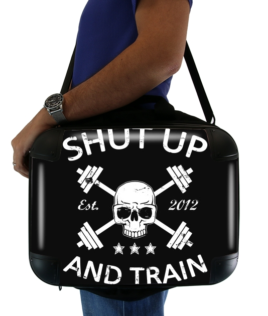 Shut Up and Train para bolso de la computadora