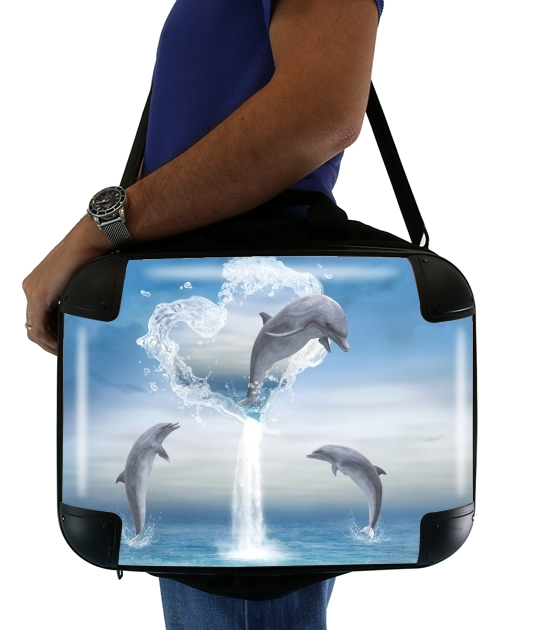 The Heart Of The Dolphins para bolso de la computadora