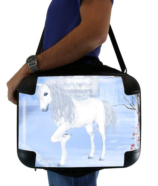 The White Unicorn para bolso de la computadora