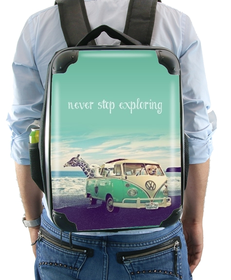 Never Stop Exploring - Lamas on Holidays para Mochila
