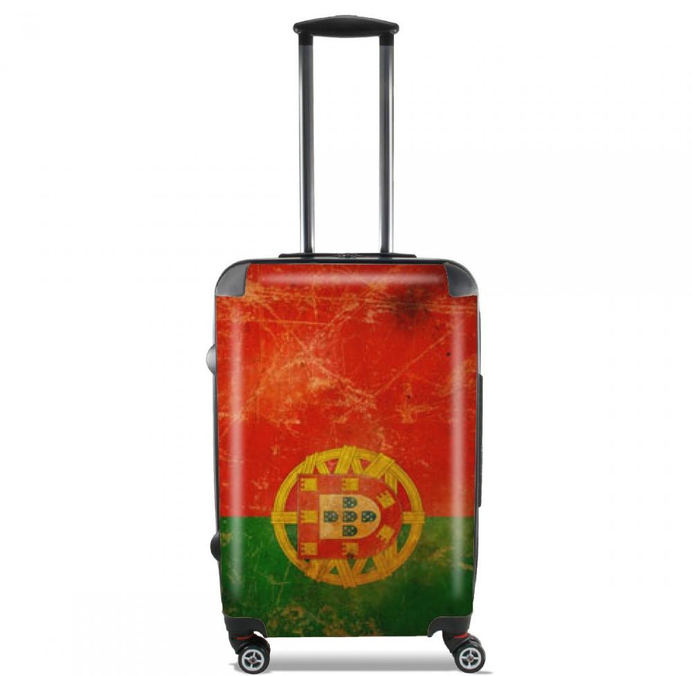 Tama o de cabina maleta con dise o grunge bandera - Tamano de baneras ...